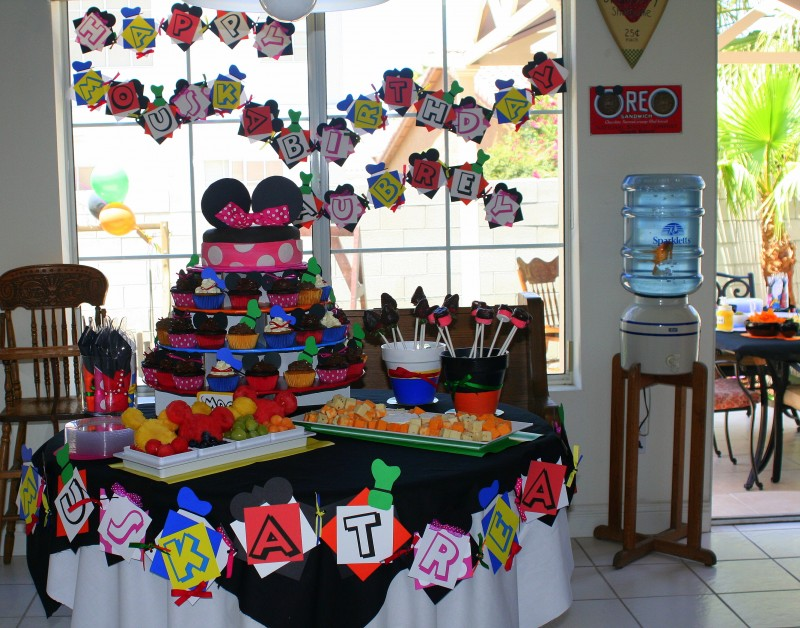 Mickey Mouse Birthday Party Decorations Ideas