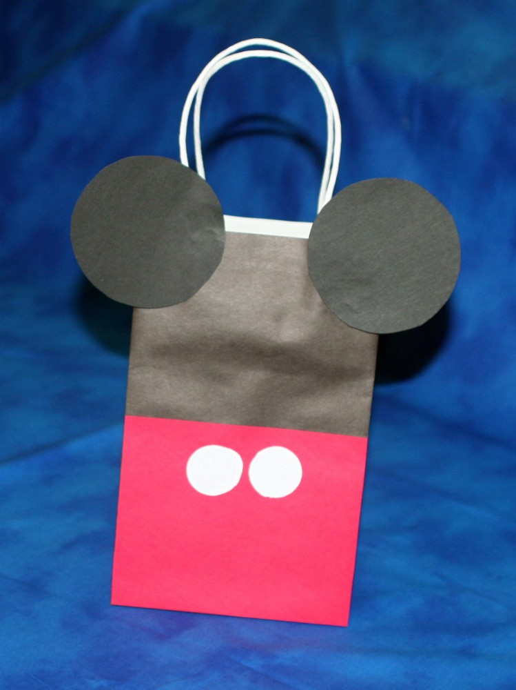 Mickey Mouse Paper Bag Craft