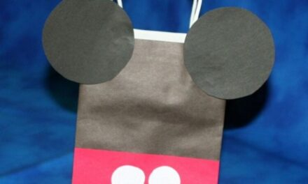 DIY Mickey Mouse Favor Bag