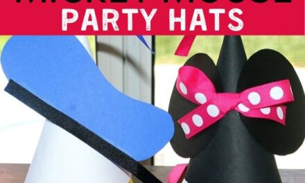 Easy + Cute Mickey Mouse Party Hats Tutorial