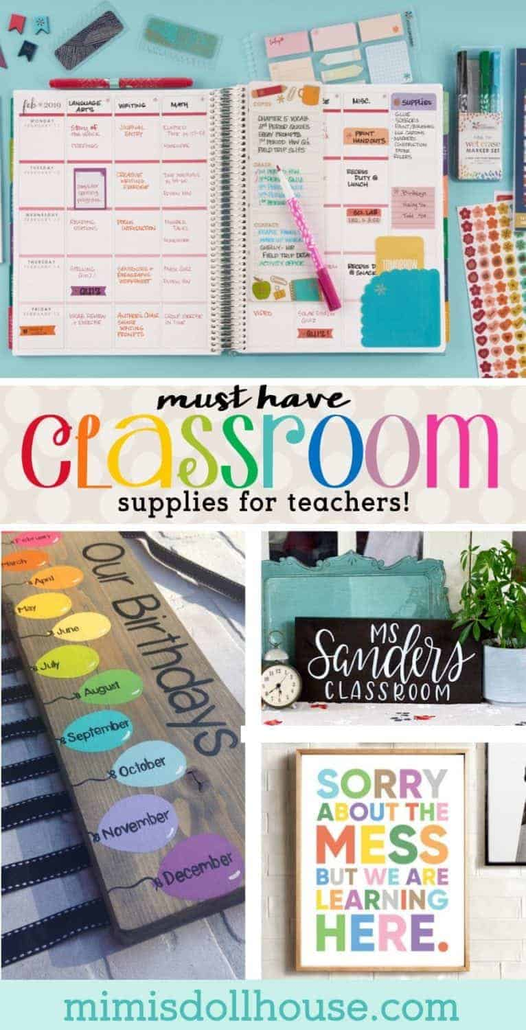 Back to School: Must Have Classroom Supplies for Teachers. Whether you are a new teacher or a veteran teacher, there are some things you just gotta have for back to school!! I'm sharing some back to school must haves and classroom supplies for teachers. Looking for the perfect teacher gift? Be sure to check out these back to school hacks, free printables for teachers, and school lunch ideas.