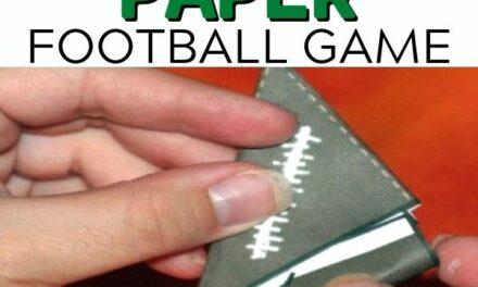 Free Printable Paper Football Game