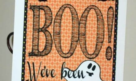 Halloween: Free Printable Halloween Boo Sign