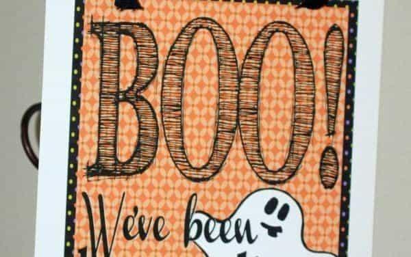 Printable Halloween Boo Sign + Ideas