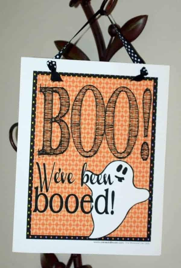 Halloween: Free Printable Halloween Boo Sign