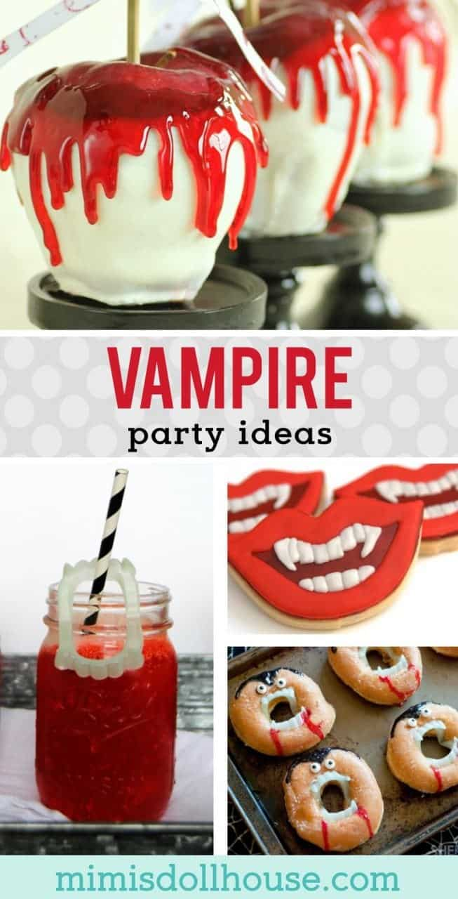 Halloween: Vampire Party Desserts and Food Ideas. Here's a Halloween theme you can really sink your teeth into? Vampire Party Ideas for desserts and treats! #holiday #halloween #parties #holidayandparty #kidparty #halloweendessert #desserts #baking