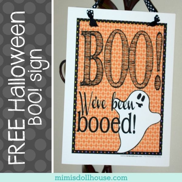 graphic relating to Booed Signs Printable called Printable Halloween Boo Indication + Suggestions Mimis Dollhouse