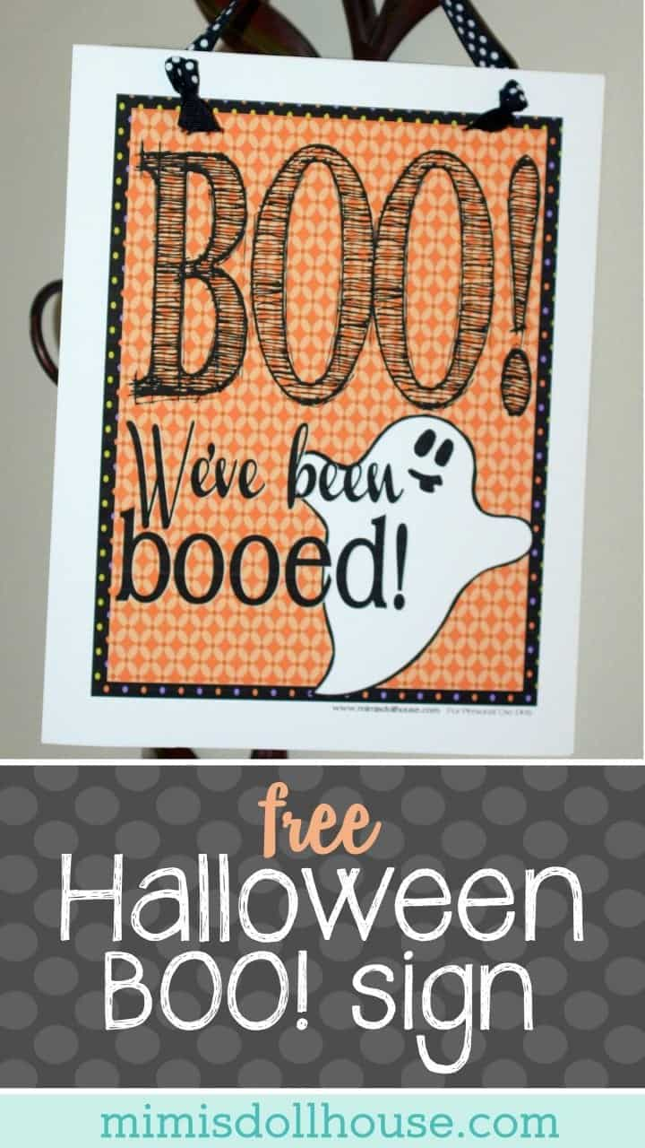 Halloween: Free Printable Halloween Boo Sign. Celebrate Halloween by surprising your neighbors with a special Halloween treat! Download the FREE Printable Halloween Boo Sign!!!#parties #halloween #holiday