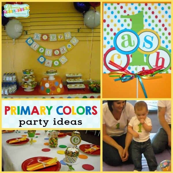 Primary Color Party: Cash's Gymboree 1st Birthday. Looking for a fun idea for a first birthday? Using bold and vibrant primary colors is a fun idea. Today I'm sharing a sweet primary color party. Check out all of our primary color party ideas and this fun primary color bouncy ball party!!