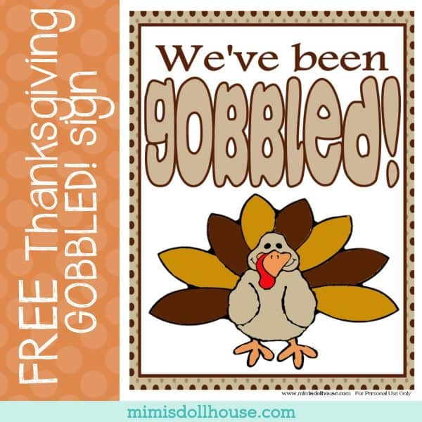 It is an image of Happy Thanksgiving Signs Printable throughout thankful