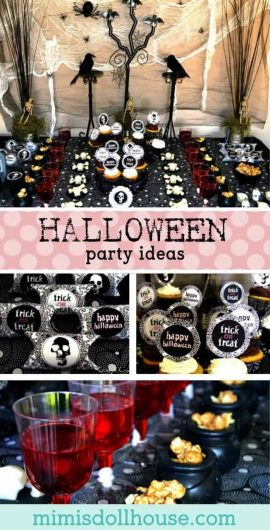 Halloween Party: Gothic Halloween.  Need some Halloween Party inspiration?  Be sure to also check out these Halloween food ideas, candy corn Halloween party, DIY Halloween costumes and grab some FREE cute Halloween printables!