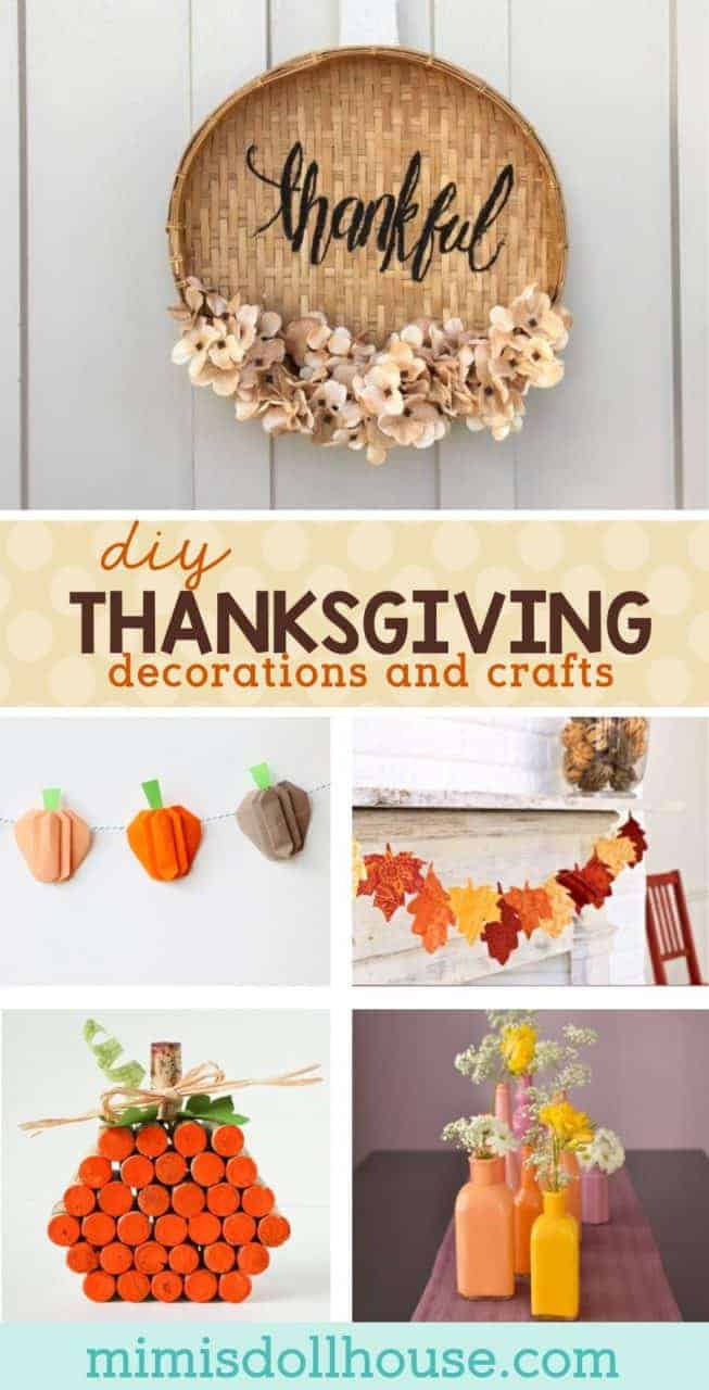 Thanksgiving: Thanksgiving Decorations and Crafts. Here are some amazing Thanksgiving decorations and Thanksgiving crafts to inspire your fall. Hope you are feeling crafty!! #fall #autumn #thanksgiving #holiday #diy #crafts #diyandcrafts #decor #decorations #thankful