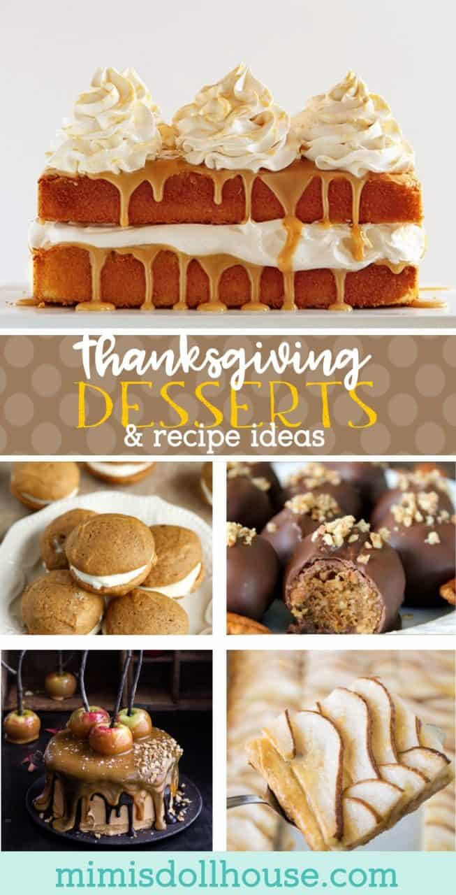 Thanksgiving Desserts: Thanksgiving Food Ideas. Looking for some easy Pinterest worthy Thanksgiving Desserts to make for your Thanksgiving table? Here are some of the most delicious and amazing Thanksgiving desserts to sink your teeth into! #fall #autumn #holiday #dessert #baking #desserts #thanksgiving #sweets #pumpkin #apple #pecan