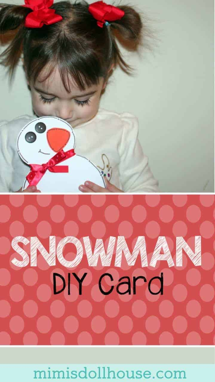 Snowman Crafts: Snowman Card Tutorial.  Whether you live in a winter wonderland or you are spending your winter months in shorts...everybody loves a good Snowman card to say