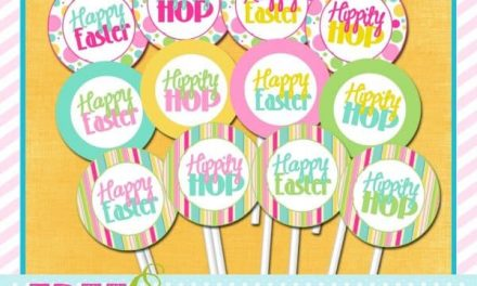 Easter: FREE Easter Cupcake Toppers