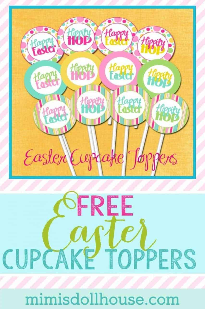 Want some FREE EASTER CUPCAKE TOPPERS??? Easter: FREE Easter Cupcake Toppers. Today I'm sharing some springy fun, and FREE Easter Cupcake Toppers. Be sure to check out all of our Easter Ideas and Inspiration. #easter #party #holiday #cupcake #free #printables #freepraintables #easterparty #kidsparty #crafts #diy #baking