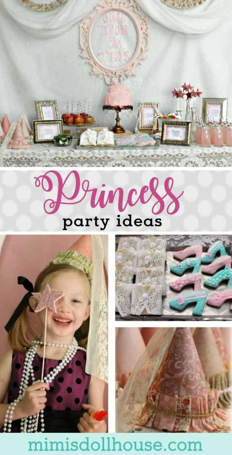 Vintage Princess Party: Tessa's Pretty Princess Party. Pretty floral and lace galore...celebrate your little princess with a beautiful princess party!  Today I'm sharing a sweet and feminine princess party with amazing princess party ideas!  Be sure to check out all of our princess party inspiration! #princess #party #partyideas #birthday #girl #parties #diy