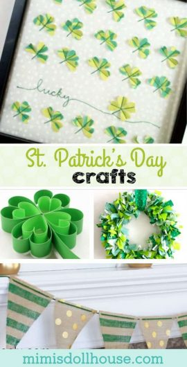 St Paddy's Day: Crafts for St. Patrick's Day.  It's your lucky day...we have some absolutely adorable St. Patrick's Day crafts that will make your holiday a blast.  Whether you love shamrocks or rainbows...these crafts are perfect for some St. Patrick's day fun!! #stpaddysday #stpatricksday #holiday #diy #crafts #decor #shamrock #holiday #party #partyideas #parties