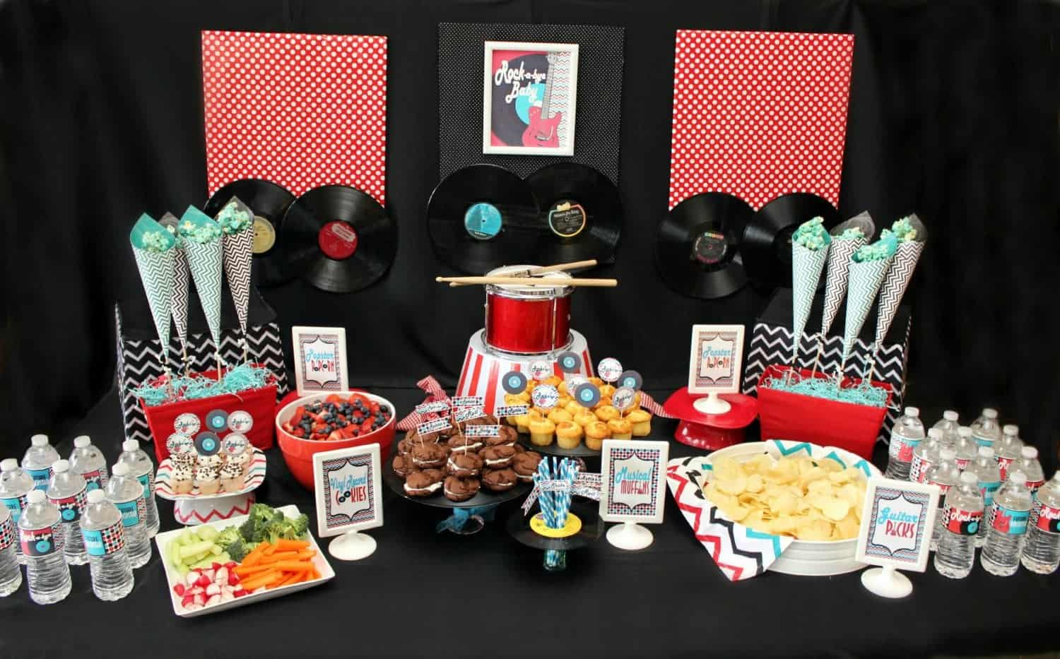 Rock n Roll Baby Shower: Pizzazzerie Feature {PRESS}