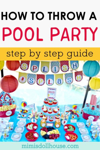 image about Pool Party Printable referred to as How toward Software the Suitable Pool Occasion - Mimis Dollhouse
