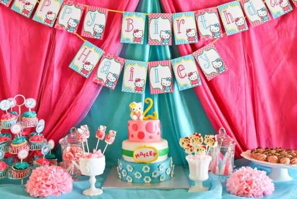 Looking for some fun Hello Kitty Party Ideas? This fun party has awesome Hello Kitty decorations and ideas for a Hello Kitty birthday! #hellokitty #party #parties #partyideas #diy #girls #kids #birthday