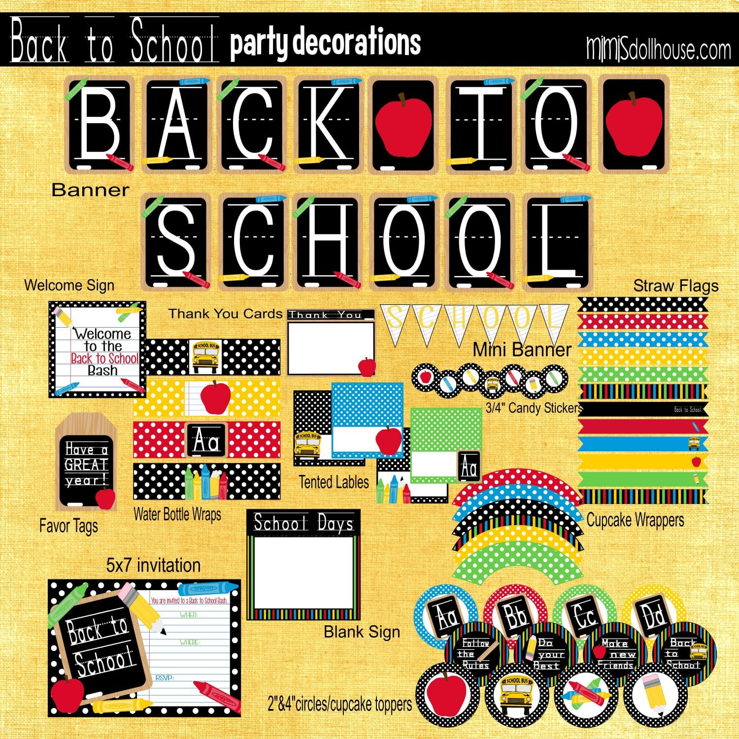 Back To School Back To School Party Mimis Dollhouse