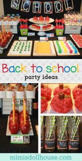 Looking for ideas to celebrate back to school? How about throwing a back to school party. This awesome back to school party is full of fun ideas for celebrating school and teachers and uses fun back to school printables. #backtoschool #schoolparty