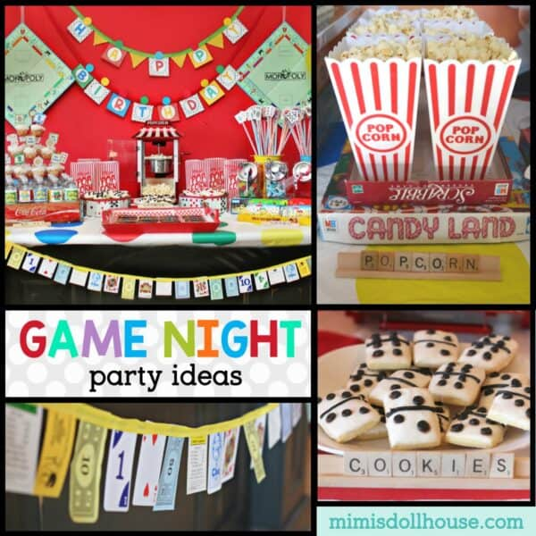 game night birthday party decorations