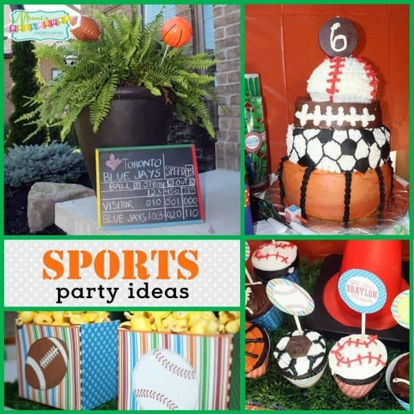 Looking For Ideas Your Little Boys Birthday This Sports Party Is Full Of Awesome