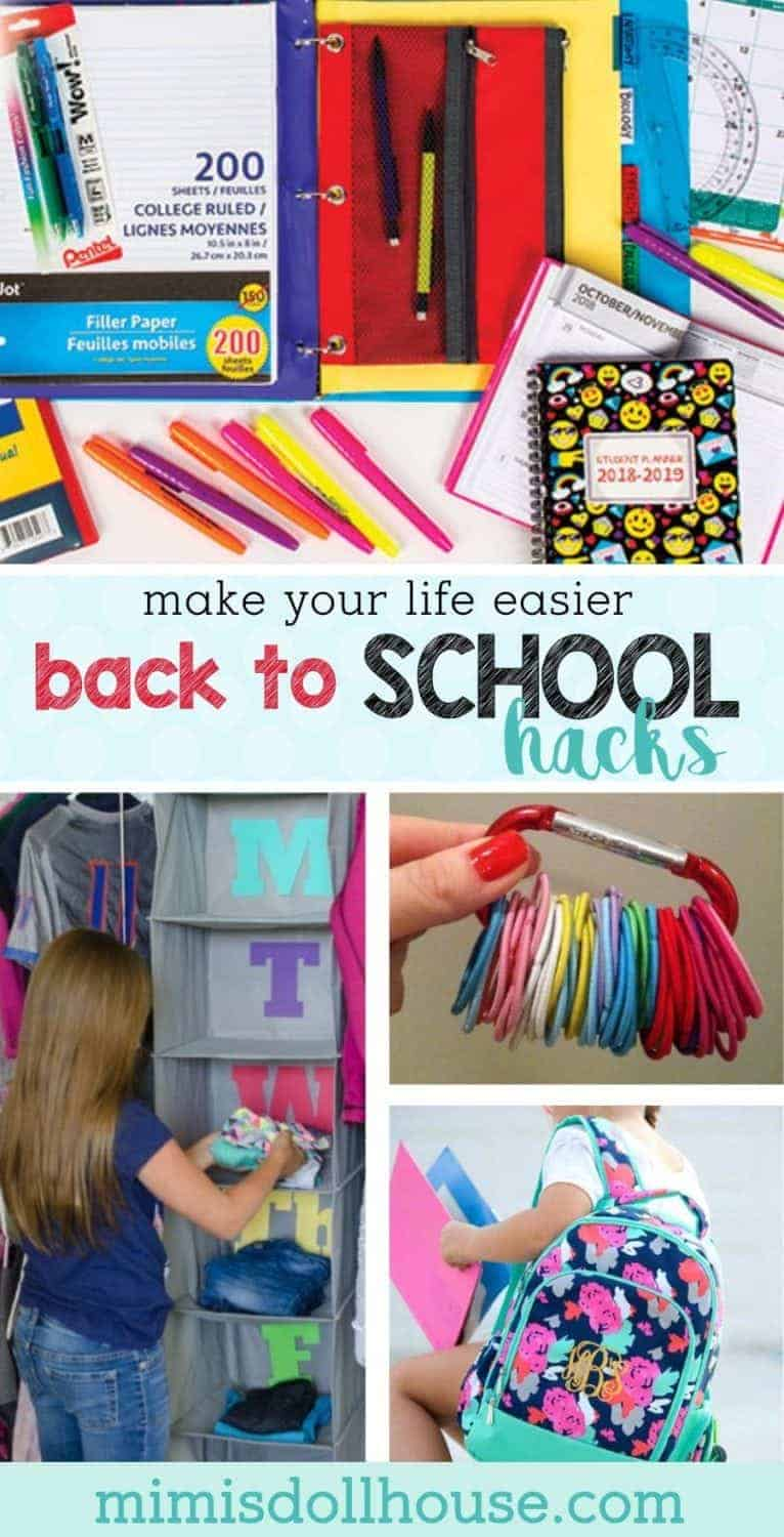 Back to School Hacks: Going Back to School Without Going Crazy.  Are you gearing up for school?  There are so many things that need to be done to get ready for back to school.  Backpacks and back to school supplies to buy and back to school clothes to pick out.  Here are some back to school hacks to make your transition easier!
