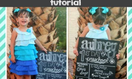 DIY First Day of School Chalkboard Sign