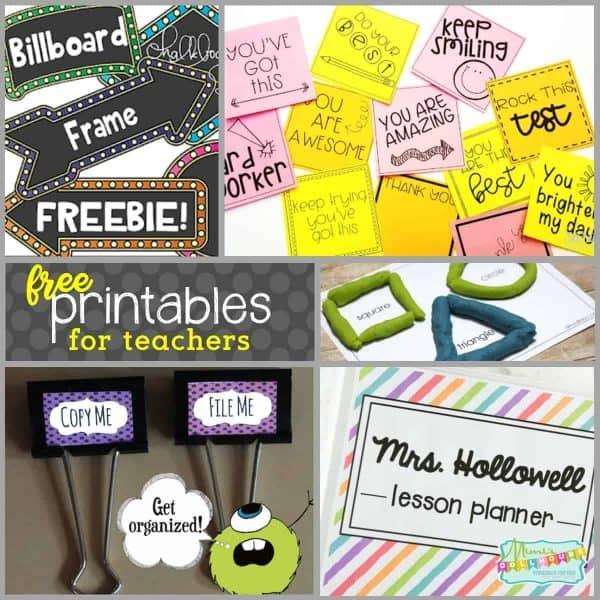 Back to School: FREE Printables for Teachers - Mimi's Dollhouse