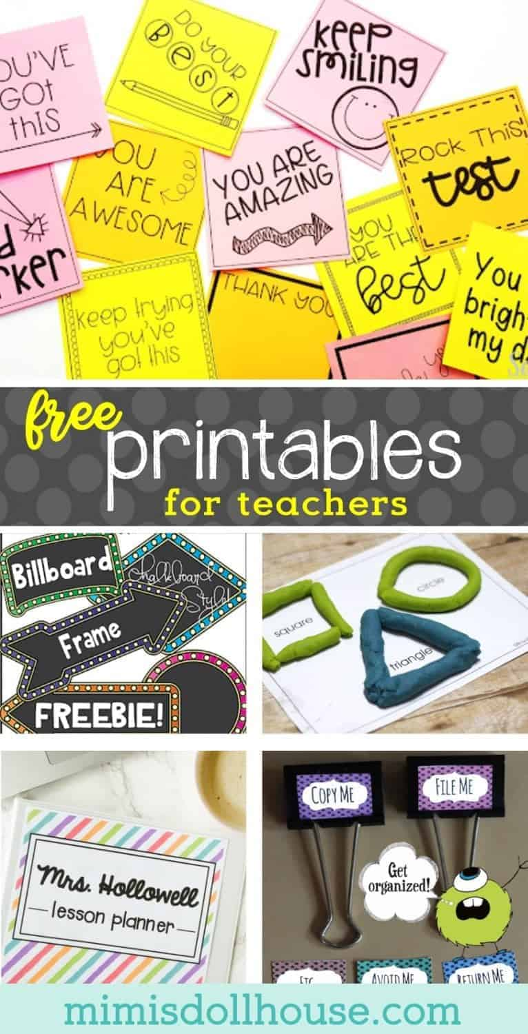 Back to School: FREE Printables for Teachers.  Setting up your classroom or homeschool station?  Make your year that much easier with FREE printables for teachers.  Today I'm sharing a ton of great teacher resources and teacher freebies to help set up your classroom in style. Looking for the perfect teacher gift? Be sure to check out these classroom supplies for teachers, back to school hacks, and school lunch ideas.