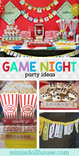 game night party ideas and food for a game night party