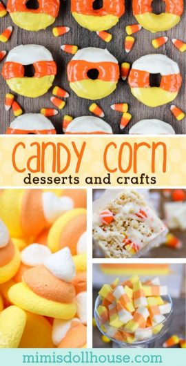 Halloween: Candy Corn Desserts and Candy Corn Crafts.  Gearing up for Halloween and want some classic Halloween treats?  I'm sharing some amazingly delicious candy corn desserts as well as some fantastic Candy corn crafts! #parties #holiday #halloween #candycorn #baking #diy #crafts #partyideas
