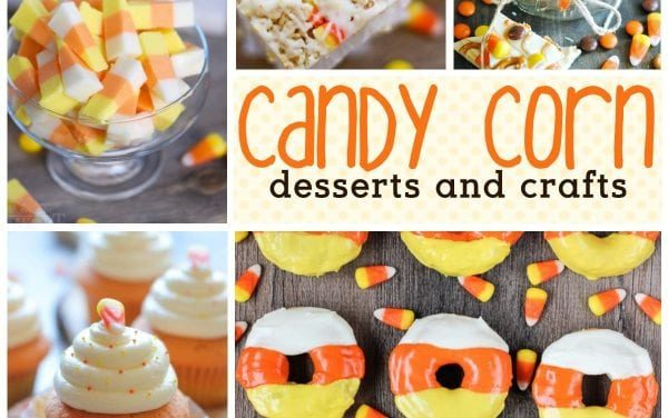 28 Fall Candy Corn Desserts + Crafts