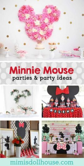 Minnie Mouse Party Theme: 10 Stylish Minnie Mouse Parties.  Does your little sweetheart love Minnie Mouse?  Is a Minnie Mouse party theme right up your alley?  There is nothing quite like a Minnie Mouse Party.  We have some Mouska-tasic Minnie Mouse parties to share. #minniemouse #disney #holiday #party #parties #partyideas #mickeymouse #girl #kids #birthday #craft #diy