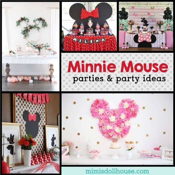 Adorably Stylish Minnie Mouse Birthday Parties Mimi S Dollhouse
