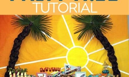 Easy DIY Palm Tree Tutorial for a Beach Party