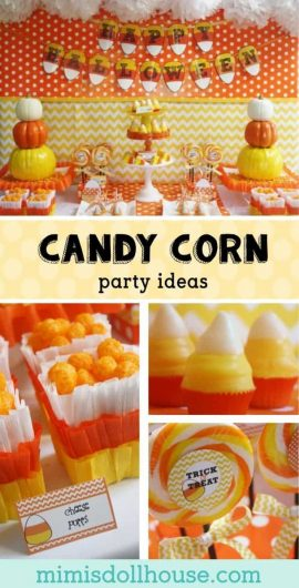 Halloween: Candy Corn Party Ideas.  Throw a Halloween party Candy Corn style with these amazing candy corn party ideas!  Check out these fantastic Candy Corn desserts! #candycorn #parties #halloween #holiday #diy #baking #crafts