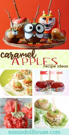 Caramel Apples Recipe Ideas: Candy Apples for Fall.  Caramel Apples are some of the best fall treats...I love finding new caramel apples recipe ideas and cute fall apple treats.  Today I'm sharing some of my favorite candy apples recipes and caramel apple inspired treats. #parties #fall #holiday #treats #desserts #apples #diy #recipes #baking #thanksgiving #autumn #harvest