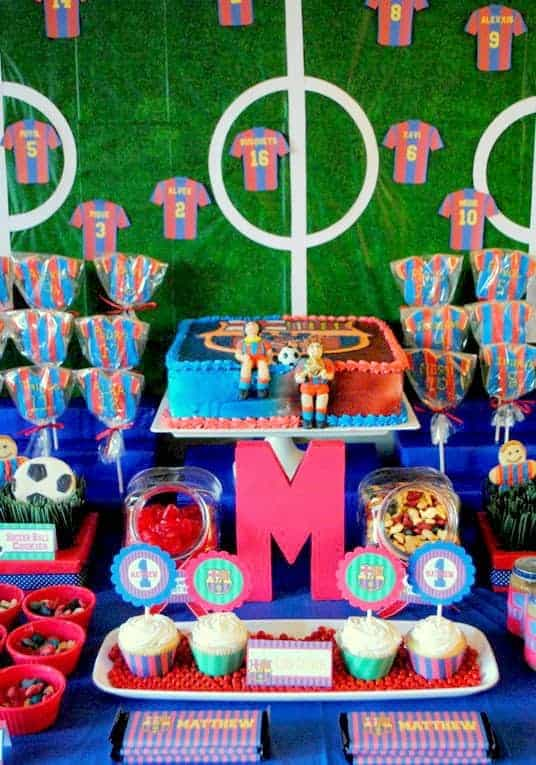 Soccer Party Matthew S Team Barcelona Birthday Mimi S