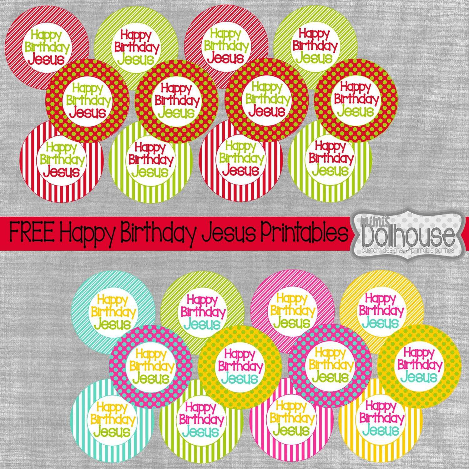 Christmas: Happy Birthday Jesus Freebie