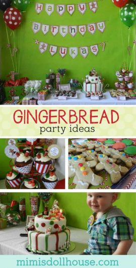Christmas: Gingerbread Man Party for December Birthdays.  Run, run as fast as you can to this Gingerbread man birthday party!  Throw an epic holiday Gingerbread Man party for your little one's birthday.  #kidbirthday #parties #winter #christmas #birthdays #diy #crafts #gingerbread