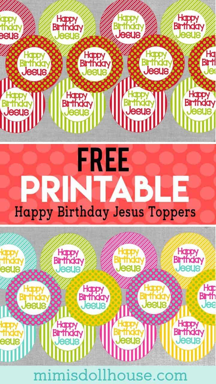 Christmas: Free Happy Birthday Jesus Printables. If you would like to throw a Happy Birthday Jesus party...we have some free printables for you! #parties #religious #christmas #free #printable #freeprintables #jesus #holiday