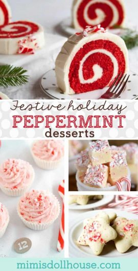 Christmas: Peppermint Recipes & Candy Cane Party Ideas.  If the idea of a Peppermint Mocha makes your day or your love peppermint recipes all Christmas season...this is your post!! #christmas #recipes #desserts #peppermint #baking #cookies #holiday #parties