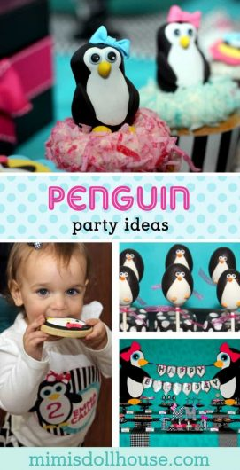 Throwing a penguin party for your little one. This penguin themed party is full of penguin treats and penguin party decorations and penguin party printables. Check it out!