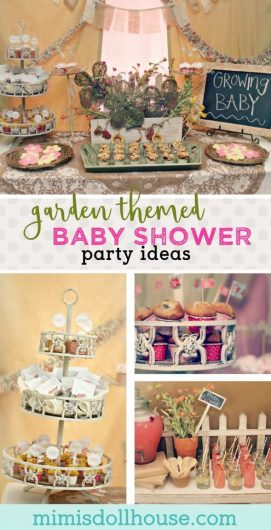 """Garden Baby Shower: Madeline's Growing Belly. Looking for a fun spring time baby shower theme? Celebrate a """"growing belly"""" with a Garden Baby Shower. This theme is perfect for a boy baby shower or a girl baby shower. Check out all of our baby shower ideas and inspiration!"""