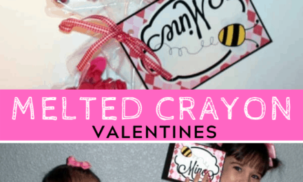 Free Printable Melted Crayon Valentines