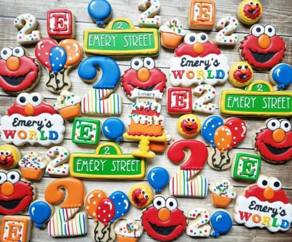 adorable custom sesame street cookies